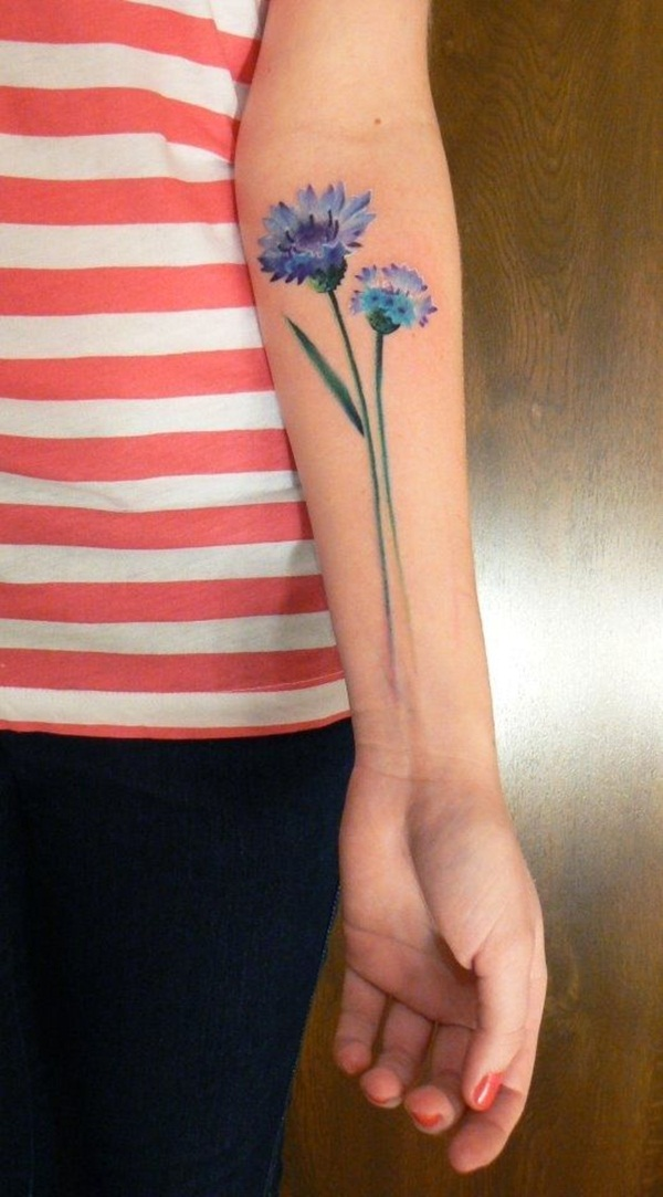 Impossibly Beautiful Water Color Tattoo Designs (40)