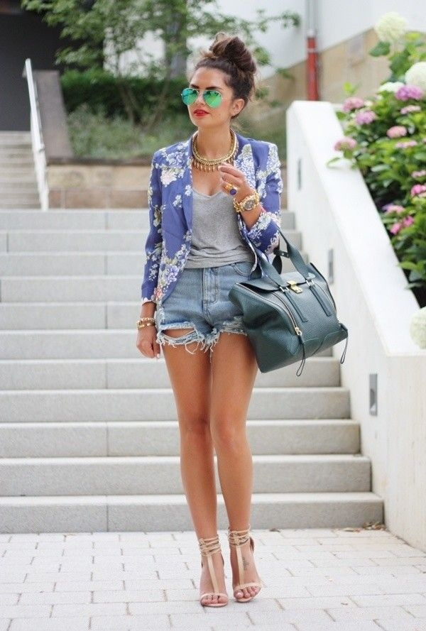 How to wear shorts in summer (39)