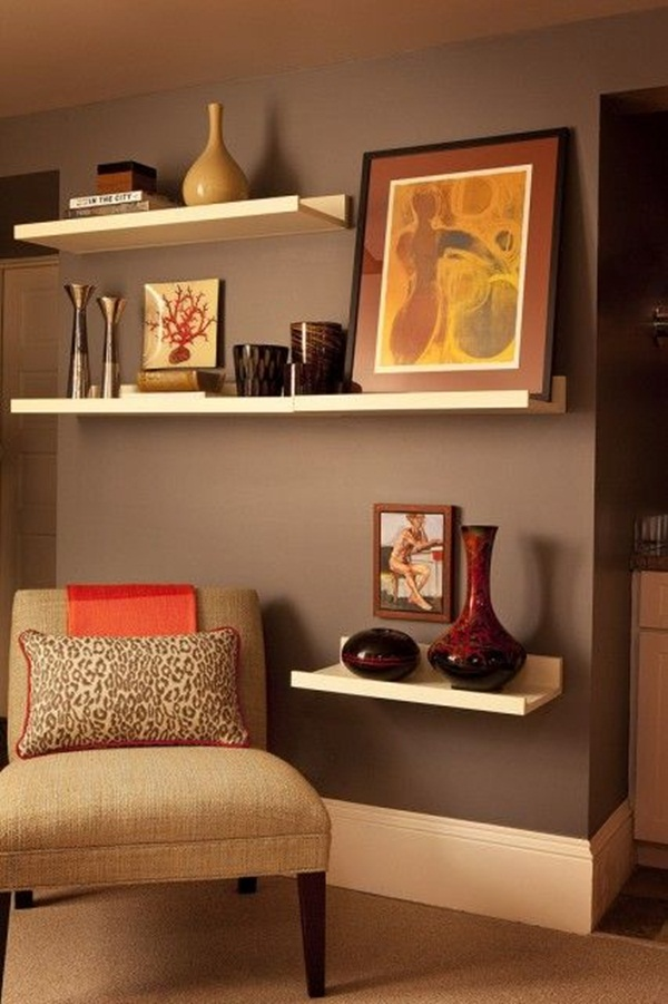 Living Room Shelf Ideas: 40 Insanely Cool Floating Shelf Ideas For Your Home