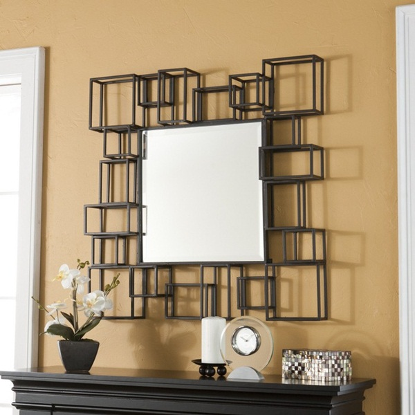 Fascinating Wall Mirrors For Living Room Design Floral Vase White Candle