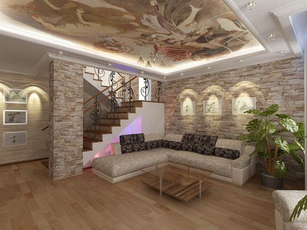 40 Literally Stunning Stone Wall Interior Decorations