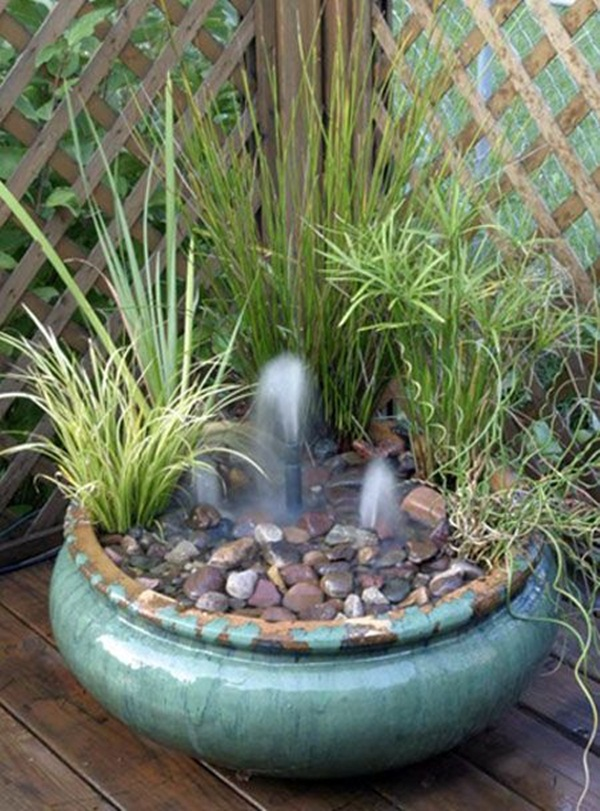 30 surprising indoor water garden ideas for Backyard water feature plans