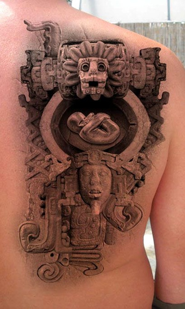 Ancient mayan tattoo designs